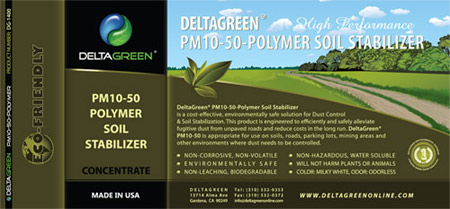 PM10-50-Polymer Soil Stabilizer Label